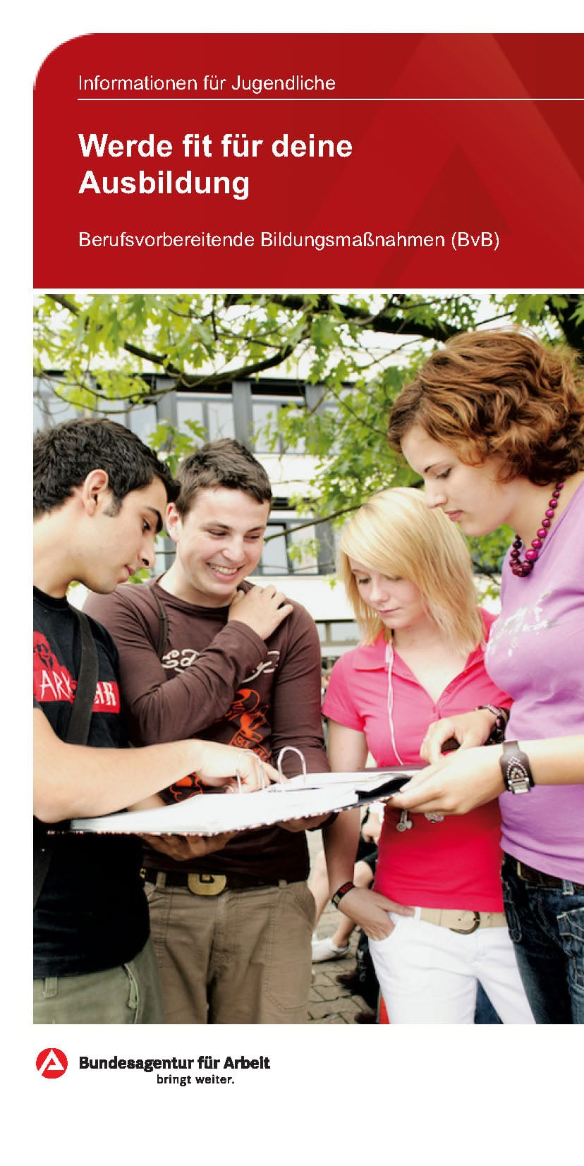 BvB Berufsvorbereitende Bildungsmaßnahmen Titelbild Flyer